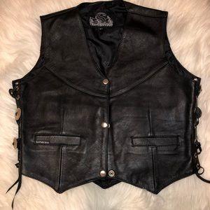 Genuine leather vest size Medium